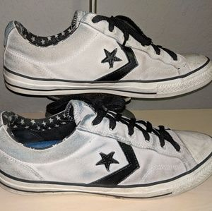 Converse All-star Grey Black White Skater Sneakers